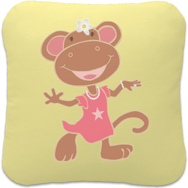 Cute Monkey Square Pillow Unique Special Amp Personalized